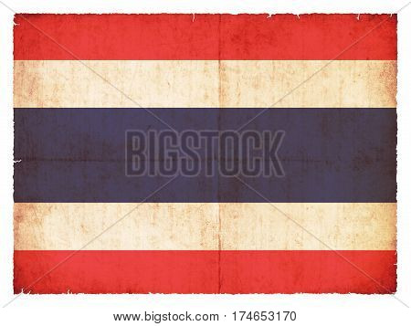 Grunge Flag Of Thailand