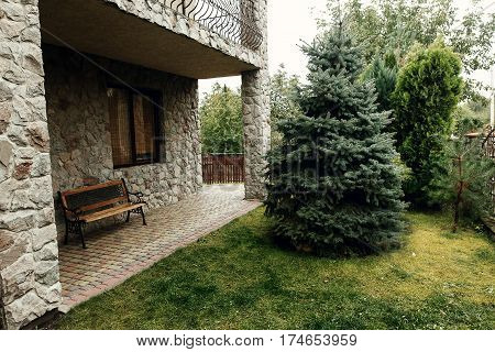 Luxury British Stone Cottage House In Countryside, Cozy Rehabilitation Center In European Village, B
