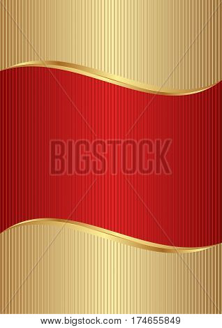abstract background gold and red - vector illustration