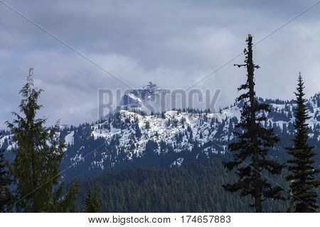 Cascade Mountains - Snowy Cascade mountains in Northern Washington on the pacific crest trail.