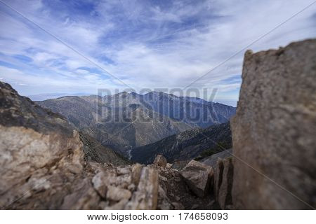 San Gabriel Mountains - Atop Mount Baden-Powell on the Pacific Crest Trail.
