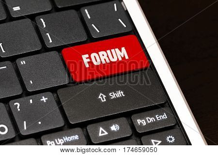 Forum On Red Enter Button On Black Keyboard