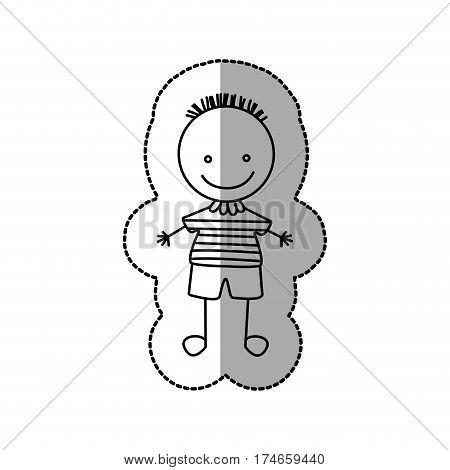 figure funny boy icon, vector illustraction design image