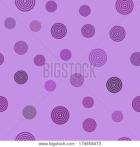 vector seamless pattern - purple concentric circles on lighht purple background