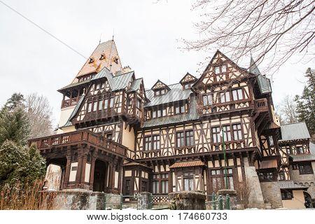 Pelisor Castle From Sinaia, Romania