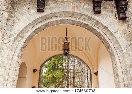 Arch Of Pelisor Castle From Sinaia, Romania