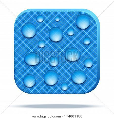 Icons of waterproof material. Reticulated fabric rip stop. Technical illustration Demonstration of Waterproof structure of membrane material. Vector Illustration isolated on white background