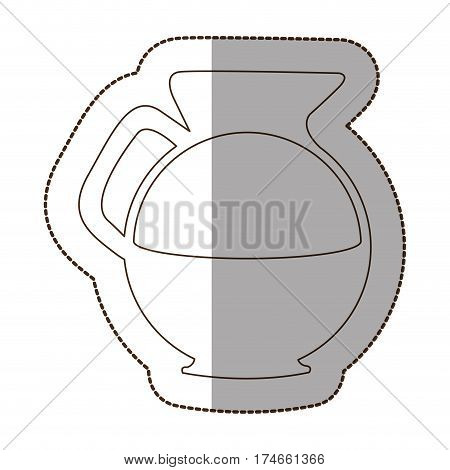 figure water pitcher icon, vector illustraction design image