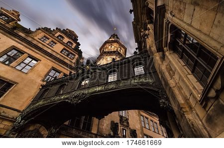 Amazing architecture in old town of Dresden in the evening. Germany. Europe.
