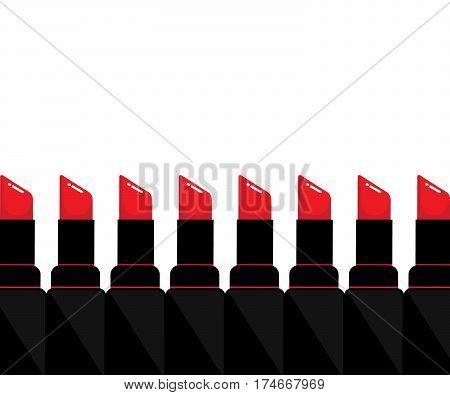 Red lipstick for women . Vector design
