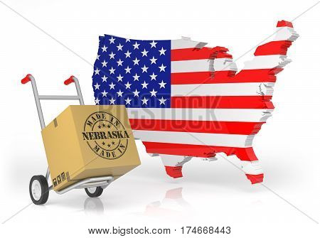 Made In Nebraska With Usa Map