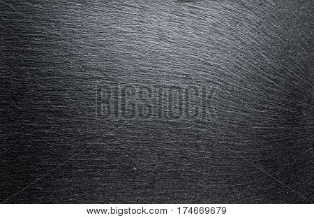 black slate board for drawing. board slate for serving texture. Horizontal photo with free space area for text or design.