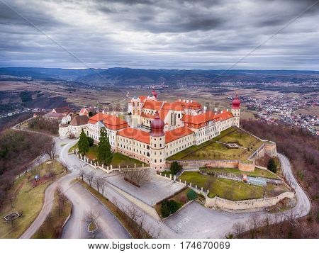 Gottweig Abbey in Wachau Lower Austria. Aerial shot.