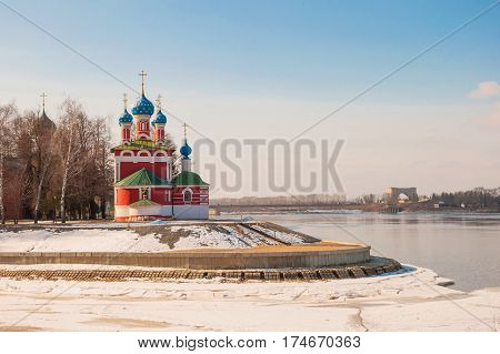 Church of Tsarevich Dmitry on the Blood in Uglich in early spring