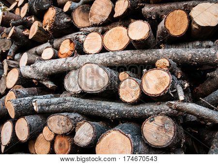 a wood pile texture ready fot fire
