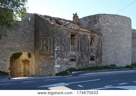 Senj Croatia. A small town in northern Croatia located on the Adriatic coast. Fragment of the ramparts of the fifteenth century.