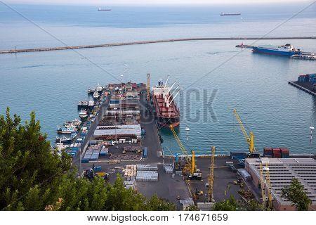 Industrial zone od Salerno port in Italy
