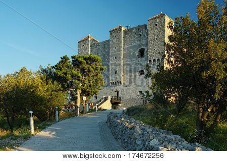Senj Croatia September 22 2016 - a small town in northern Croatia located on the Adriatic coast. On the picture fortress Nehaj symbol of Senj. It was built in the second half of the sixteenth century to defend the city against the Turks.
