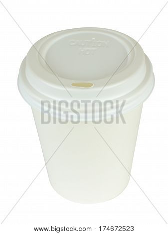 White Cardboard Coffee Container