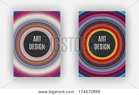 Art Design Poster stretched pixels effect A4 format
