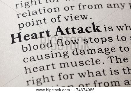 Fake Dictionary Dictionary definition of the word heart attack. including key descriptive words.