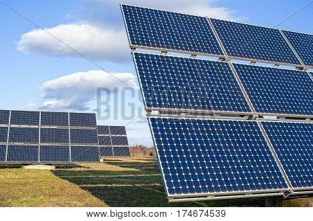 Solar Power Plant Using Renewable  Energy With Sun