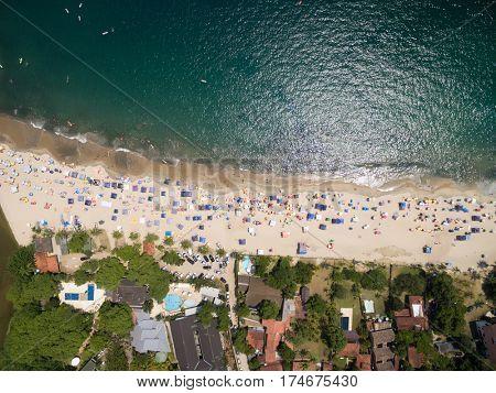 Aerial View of Pauba Beach, Sao Sebastiao, Sao Paulo, Brazil