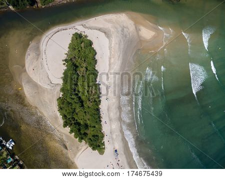 Top View of a Paradise Island