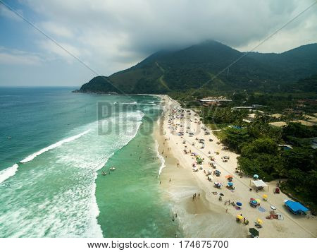 Aerial View of Maresias Beach, Sao Paulo, Brazil