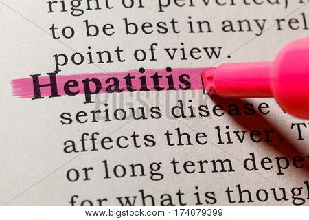 Fake Dictionary Dictionary definition of the word hepatitis. including key descriptive words.