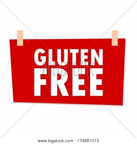 Gluten Free Sign - illustration on white background