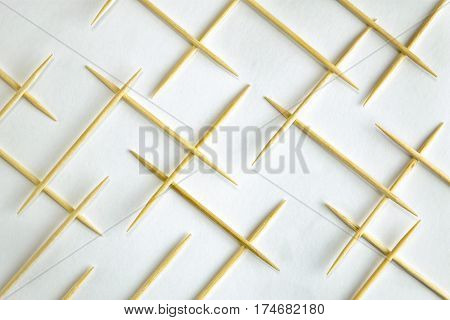 abstract background composition with wooden sticks toothpick