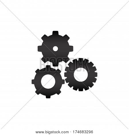 black silhouette with pinions set vector illustration