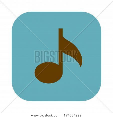 color square with musical note icon vector illustration