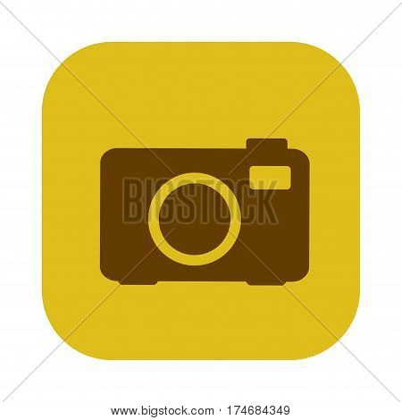 color square with analog camera icon vector illustration