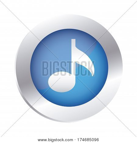color circular emblem with musical note vector illustration