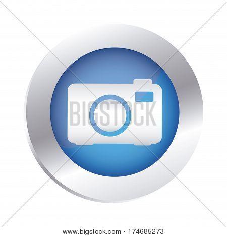 color circular emblem with analog camera icon vector illustration