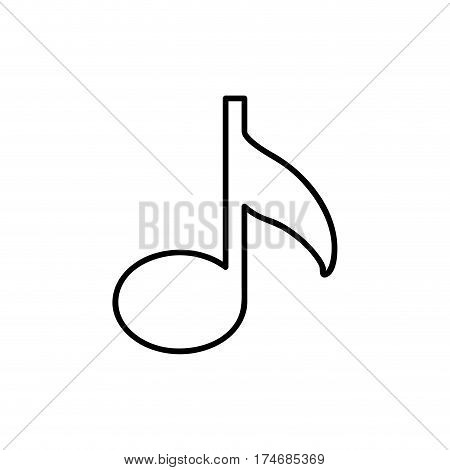 monochrome contour with musical note vector illustration
