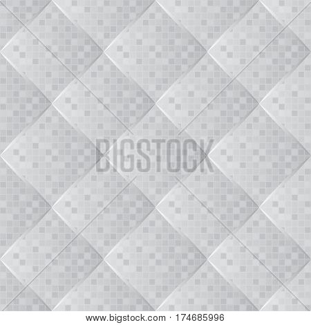 quilted fabric,  seamless pattern for wallpaper - vector illustration