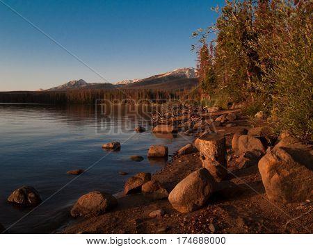Summer Lake Camping Fishing Colorado Blue Sky