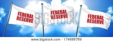 federal reserve, 3D rendering, triple flags