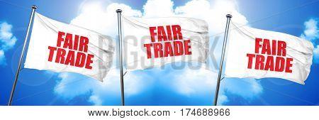 fair trade, 3D rendering, triple flags