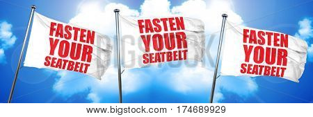 fasten your seatbelt, 3D rendering, triple flags