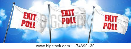 exit poll, 3D rendering, triple flags