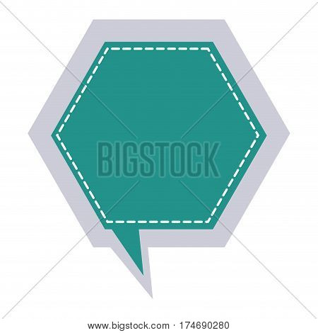 sticker hexagon frame callout dialogue vector illustration