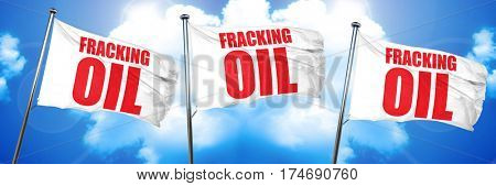 fracking oil, 3D rendering, triple flags