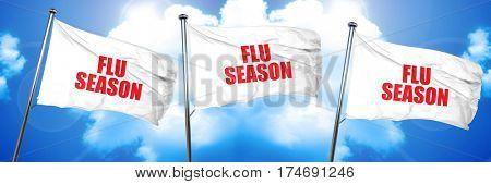 flu season, 3D rendering, triple flags