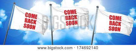 come back soon, 3D rendering, triple flags