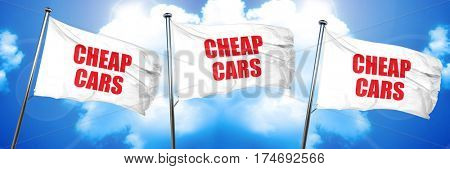 cheap cars, 3D rendering, triple flags
