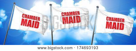 chamber maid, 3D rendering, triple flags
